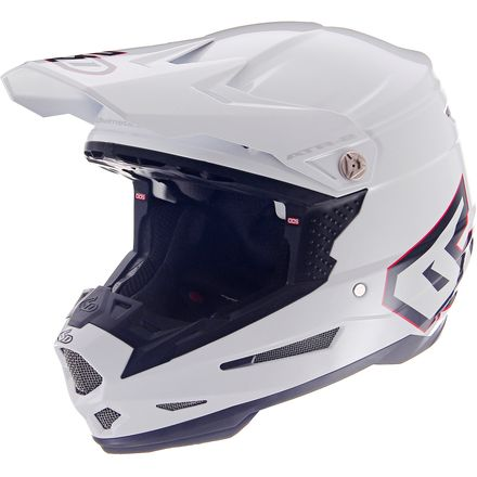6D ATR-2 Motorcycle Helmet - Solid Gloss White
