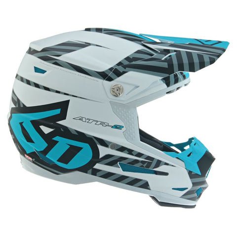 6D ATR-2 Youth Havoc Motorcycle Helmet - Electric Blue