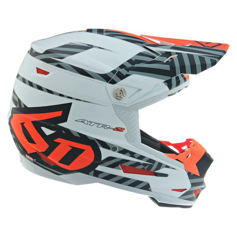 6D ATR-2 Havoc Motorcycle Helmet - Neon Orange