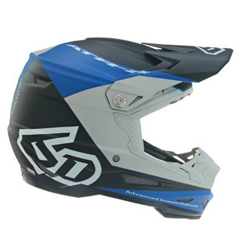 6D ATR-2 Quadrant Motorcycle Helmet - Blue/Grey/Black