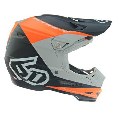 6D ATR-2 Quadrant Motorcycle Helmet - Neon Orange/Grey/Black