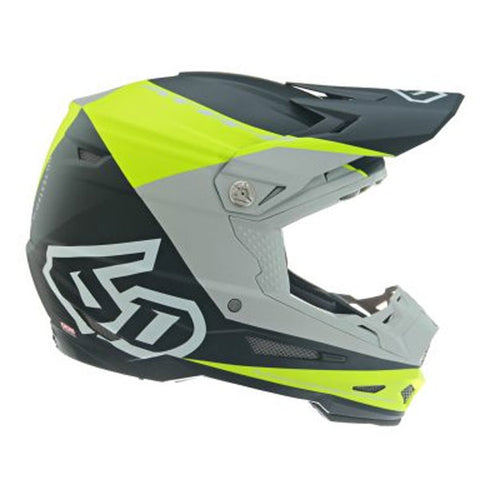 6D ATR-2 Quadrant Motorcycle Helmet - Neon Yellow/Grey/Black