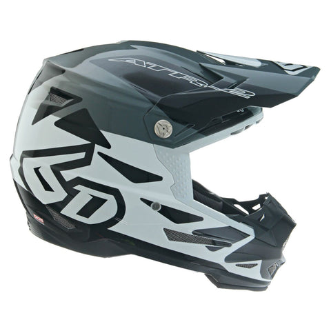 6D ATR-2 Merge Motorcycle Helmet - White/Grey/Black