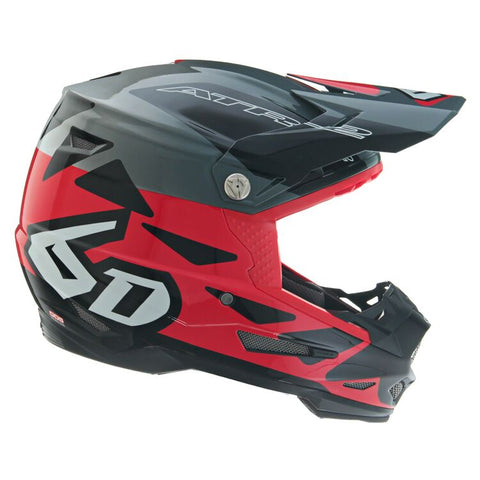 6D ATR-2 Merge Motorcycle Helmet - Red/Grey/Black
