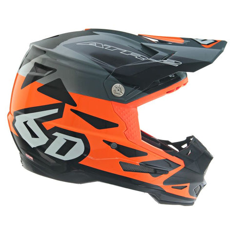 6D ATR-2 Merge Motorcycle Helmet - Neon Orange/Grey/Black