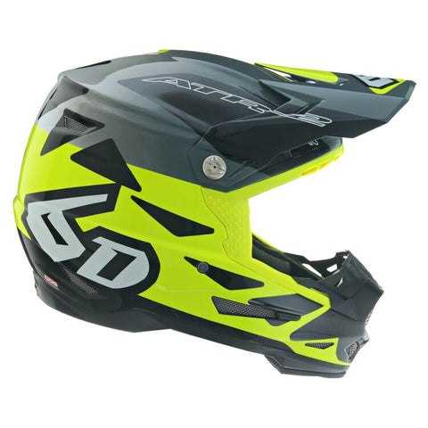 6D ATR-2 Merge Motorcycle Helmet - Neon Yellow/Grey/Black