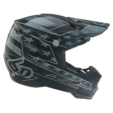 6D ATR-2 Super Patriot Motorcycle Helmet - Black