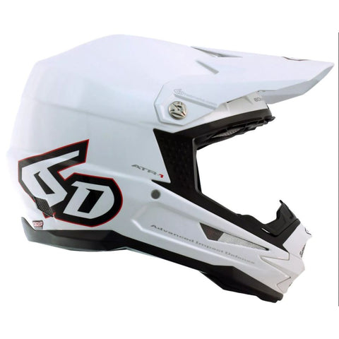 6D ATR-1 Motorcycle Helmet - Solid Gloss White
