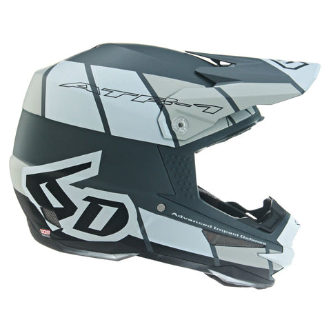 6D ATR-1 Shear Motorcycle Helmet - White/Grey/Black