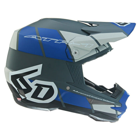 6D ATR-1 Shear Motorcycle Helmet - Blue/Grey/Black