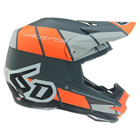 6D ATR-1 Shear Motorcycle Helmet - Neon Orange/Grey/Black