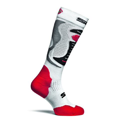 SIDI Faenza Technical Casual Socks - White/Red