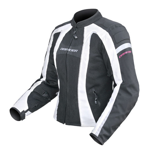 Dririder Airstream Ladies Motorcycle Jacket - Black/White