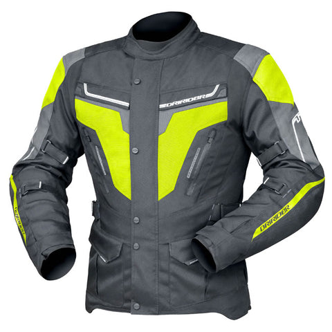 Dririder Apex 5 Men's Motorcycle Jacket - Black/Yellow