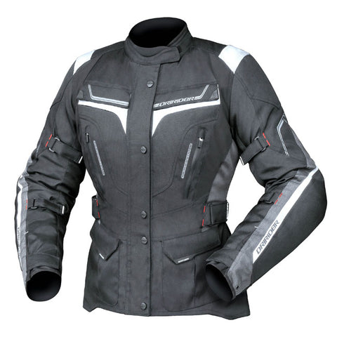 Dririder Apex 5 Ladies Motorcycle Jacket - Black/White/Grey