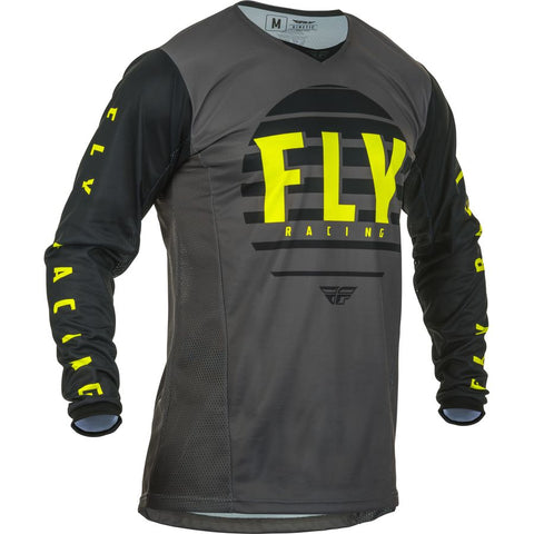 Fly Racing Kinetic K220 Motorcycle Jersey   - Black/Grey/Hi-Vis
