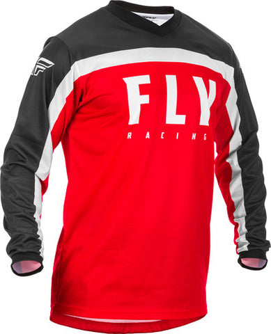 Fly Racing F-16 Motorcycle Youth Jersey   - Red/Black/White