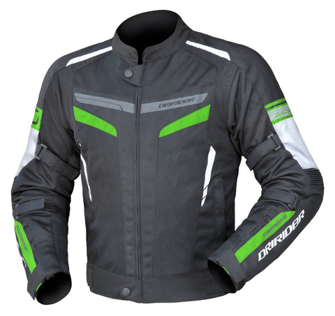 Dririder Air-Ride 5 Men's Motorcycle Jacket - Black/Green