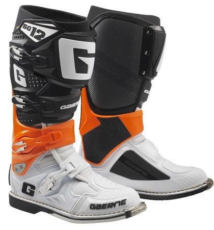 Gaerne SG-12 Off Road Motorcycle Boots - Orange/Black/White