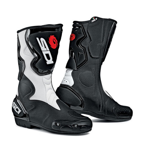 Sidi Fusion Motorcycle Boots - Black/White