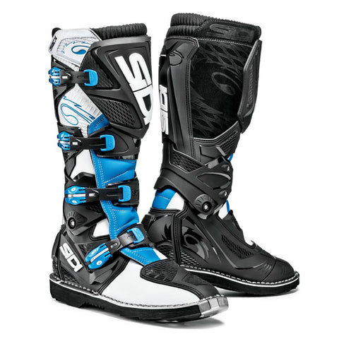 Sidi X-3 Motorcycle Boots - White/Light Blue/Black