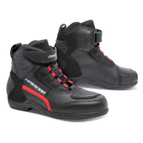 Dririder Breeze Motorcycle Boots - Black/Red
