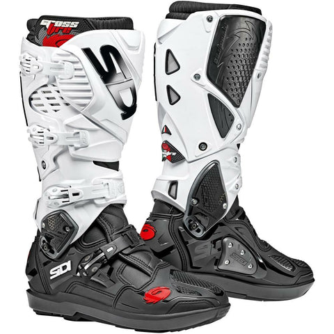 Sidi Crossfire 3 SRS Motorcycle Boots - Black/White