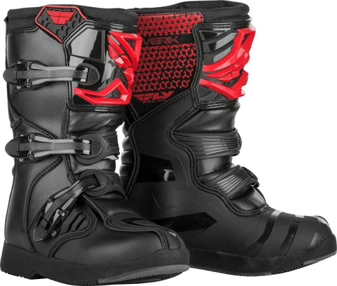 Fly Racing Maverik Motorcycle Kids Boots - Red/Black