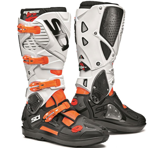 Sidi Crossfire 3 SRS Motorcycle Boots - Orange/Fluro/Black/White