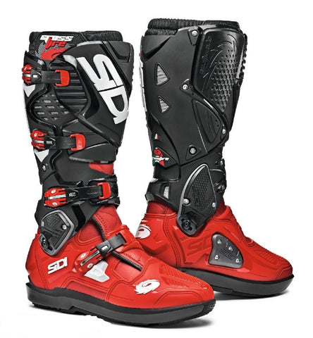 Sidi Crossfire 3 SRS Motorcycle Boots - Red/Red/Black