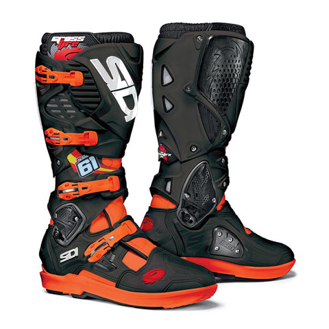Sidi Crossfire 3 Srs Prado 61 Limited Edition Motorcycle Boots - Orange/Black