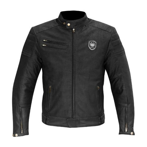 Merlin Alton Leather Jacket – Black