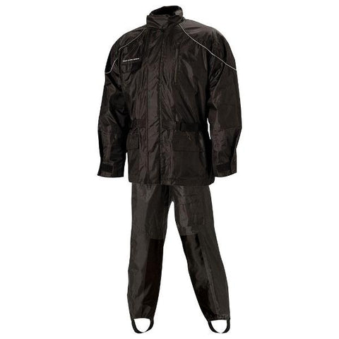 Nelson-Rigg Aston Rainsuit AS-3000 Deluxe 2 piece - Black