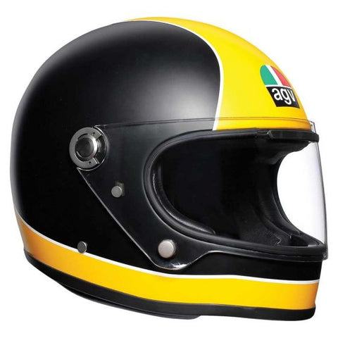 AGV X3000 Super Matte Black/Yellow Helmet