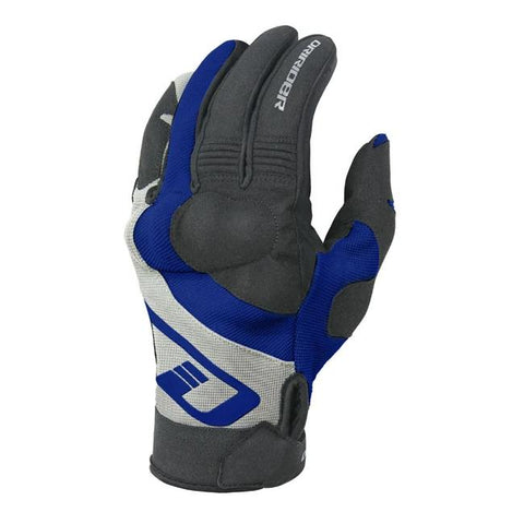 Dririder RX Adventure Men's Motorcycle Gloves - Black-Blue