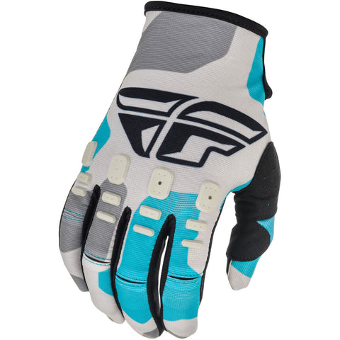 Fly Racing Kinetic K221 2021 Motorcycle Youth Gloves -  Grey/Blue