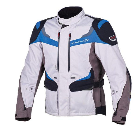 Macna Scope Textile Jacket– Ivory/ Blue/ Black