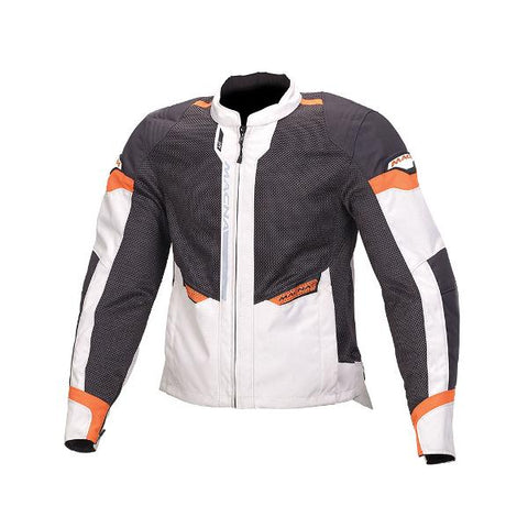 Macna Event Mesh Jacket – Black/Ivory/Orange