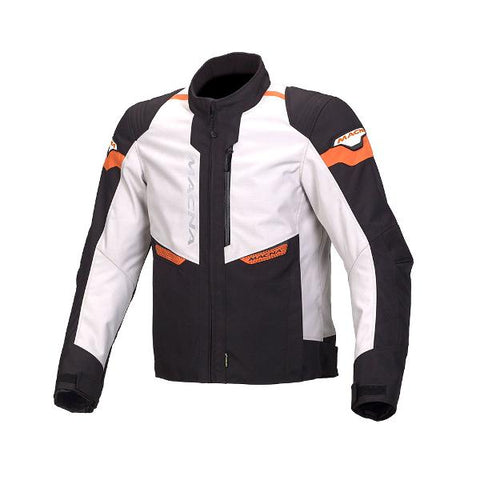 Macna Traction Textile Jacket – Ivory/ Black/Orange