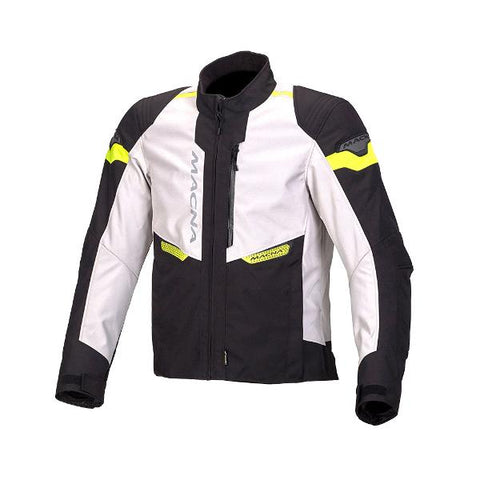 Macna Traction Textile Jacket – Ivory/Black/Fluro