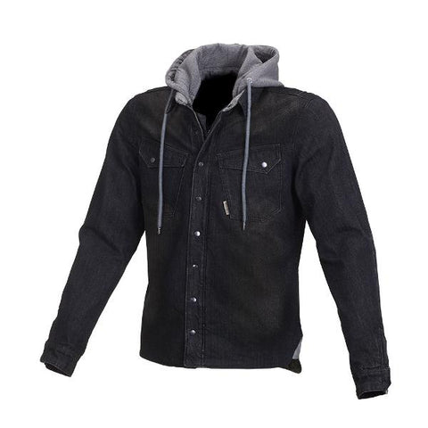 Macna WestCoast Hoody Denim Kevlar Jacket –  Black