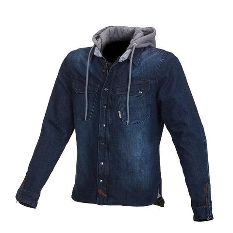 Macna Westcoast Hoody Denim Jacket –  Blue