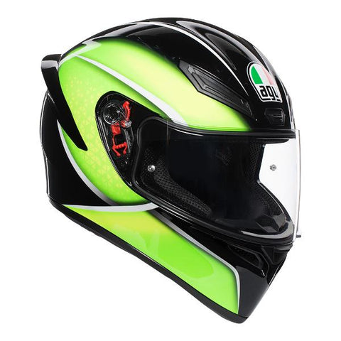 AGV K1 Qualify Full Face Helmet - Black/Lime