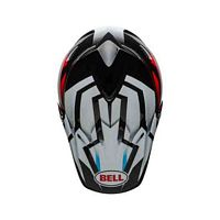 Bell Moto-9 Visor District White/Black/Red