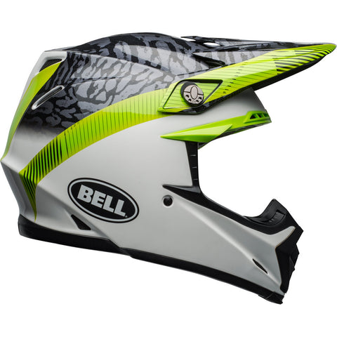 Bell 2019 Moto-9 Chief Black/White/Green MIPS Equipped