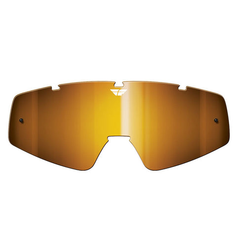 Fly Racing Zone/Focus Goggle Replacement Lens - Chrome Amber