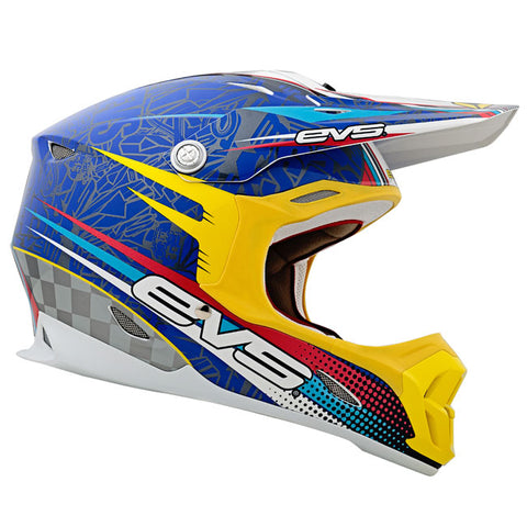 EVS T7 Martini Motorcycle Helmet - Blue