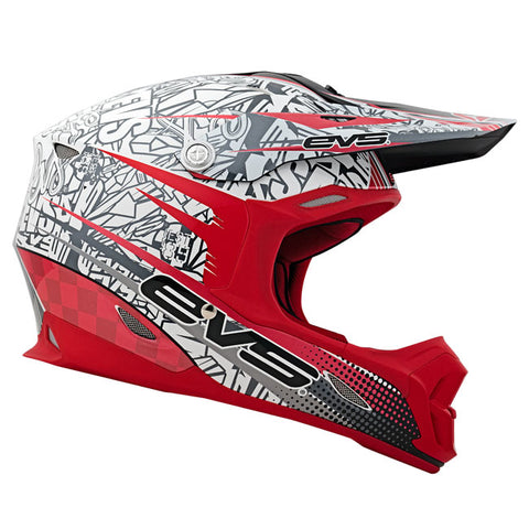 EVS T7 Martini Motorcycle Helmet - Red