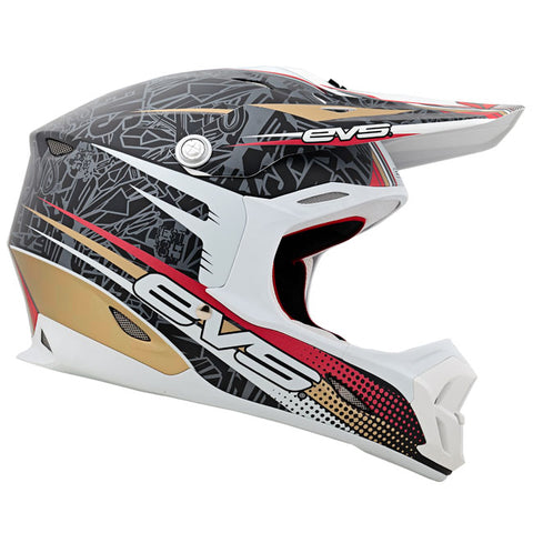 EVS T7 Martini Motorcycle Helmet - Black