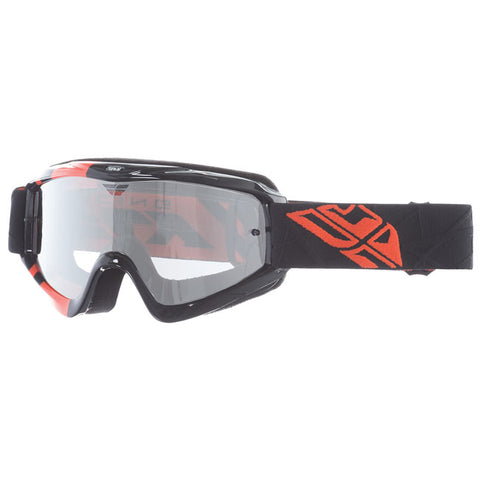 Fly Racing Zone Pro Youth Goggles With Clear Flash Chrome Lens - Black/Orange